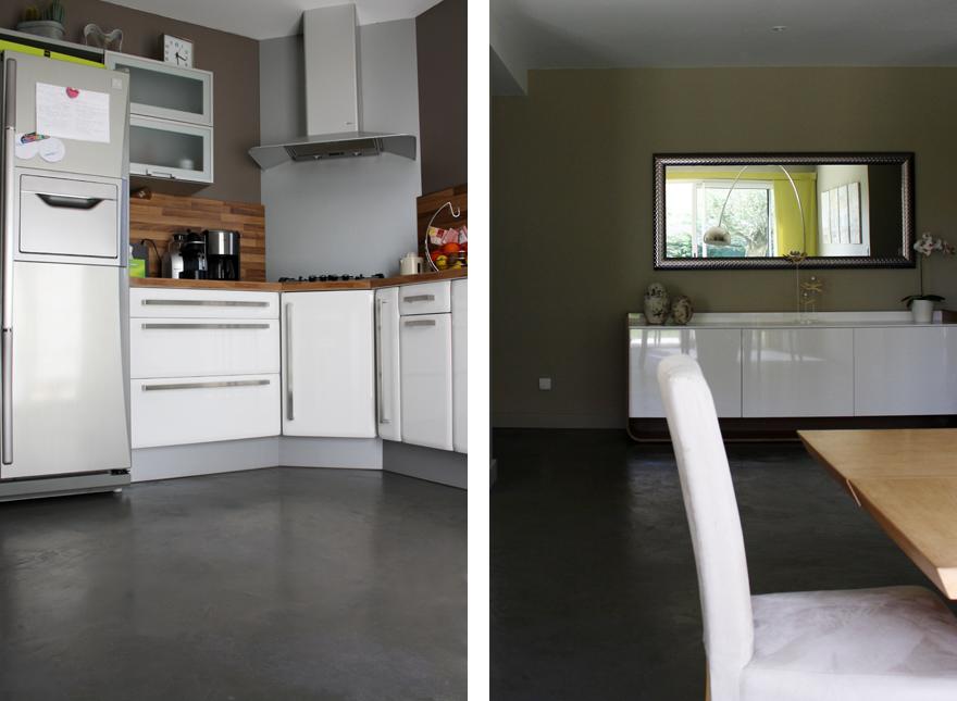 maison neuve charly beton cire lyon paris grenoble beton autolissant spatulable chape. Black Bedroom Furniture Sets. Home Design Ideas